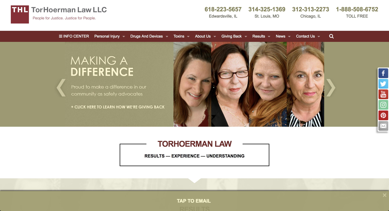 TorHoerman Law, LLC Screenshot