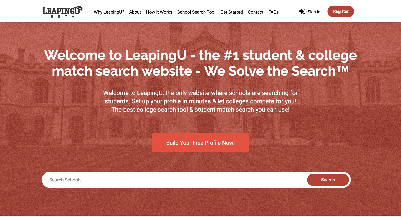 LeapingU Web Application Redesign Screenshot