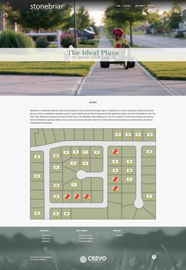 Stonebriar Troy Real Estate Website Screenshot