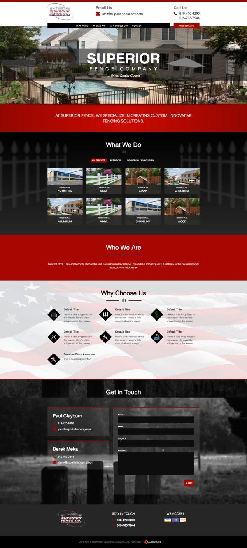 Superior Fence Company Website Screenshot